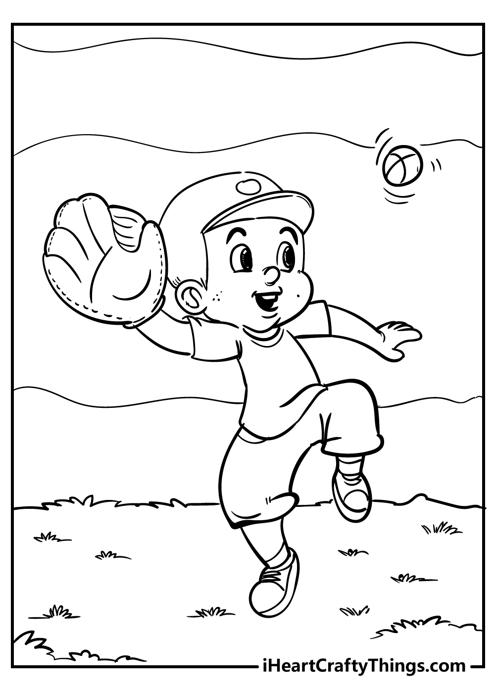 baseball coloring images for boys free download