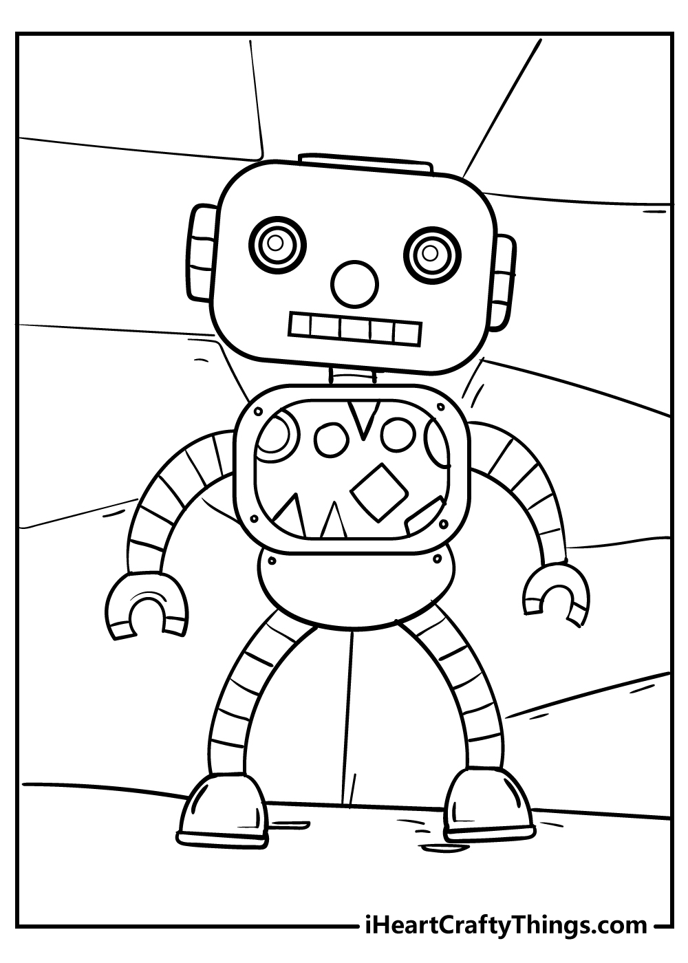 robot coloring pages for boys free download