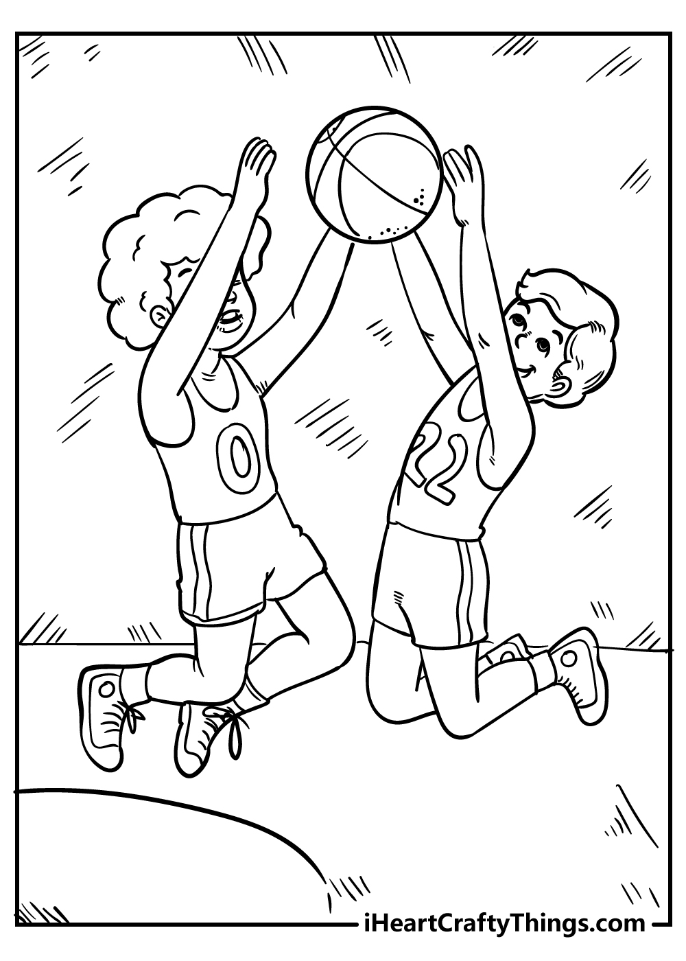 boys playing basketball coloring pages free printable