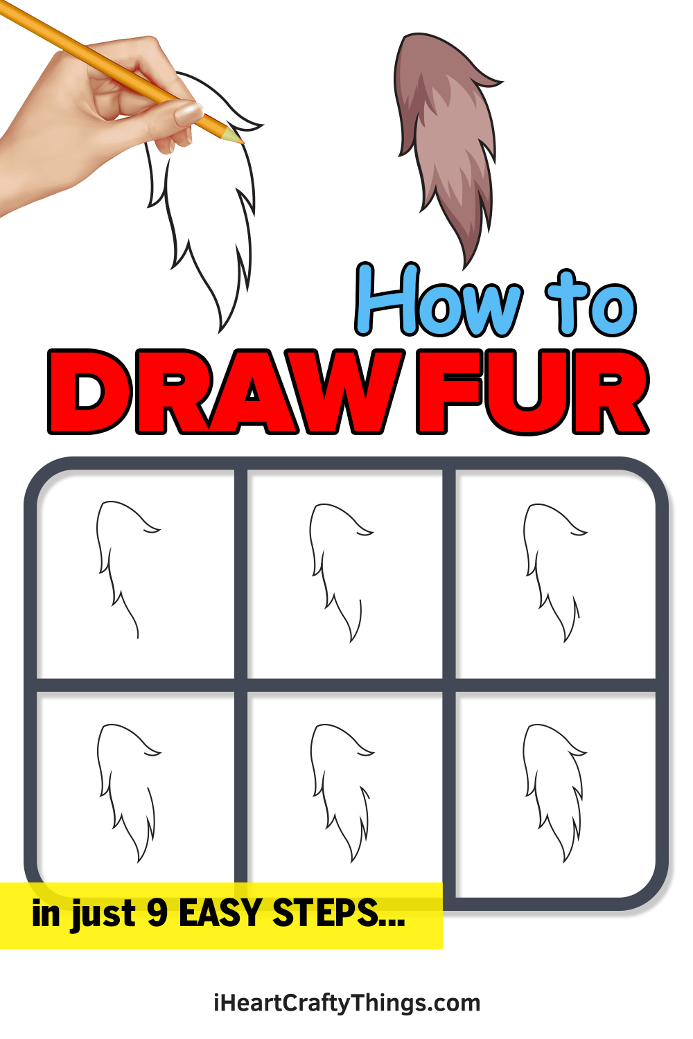 how to draw fur in 9 easy steps