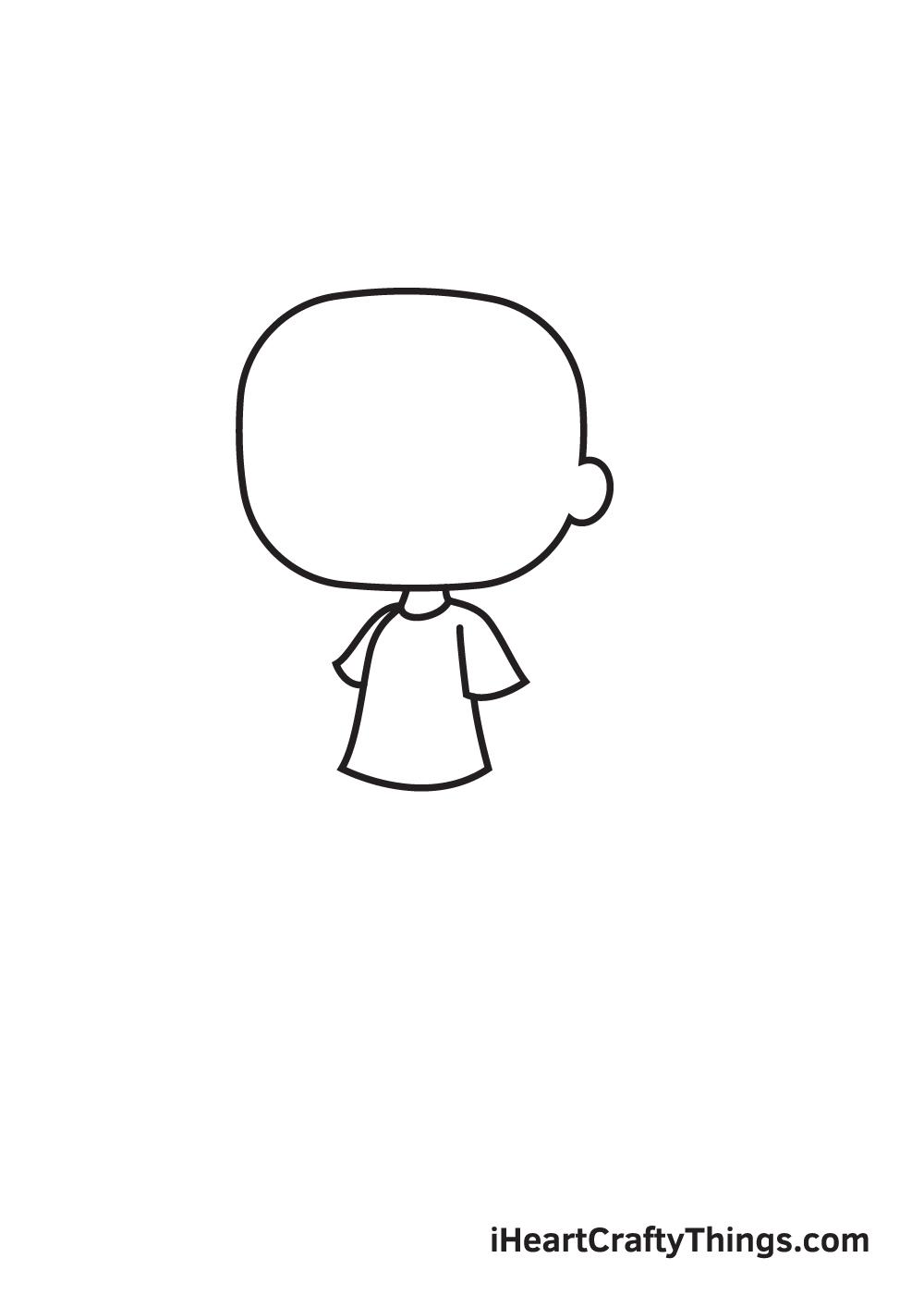 gacha life drawing step 2