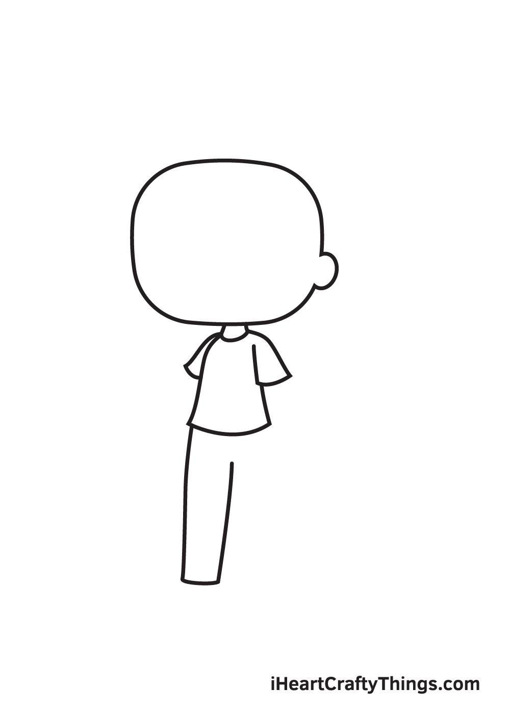 gacha life drawing step 3