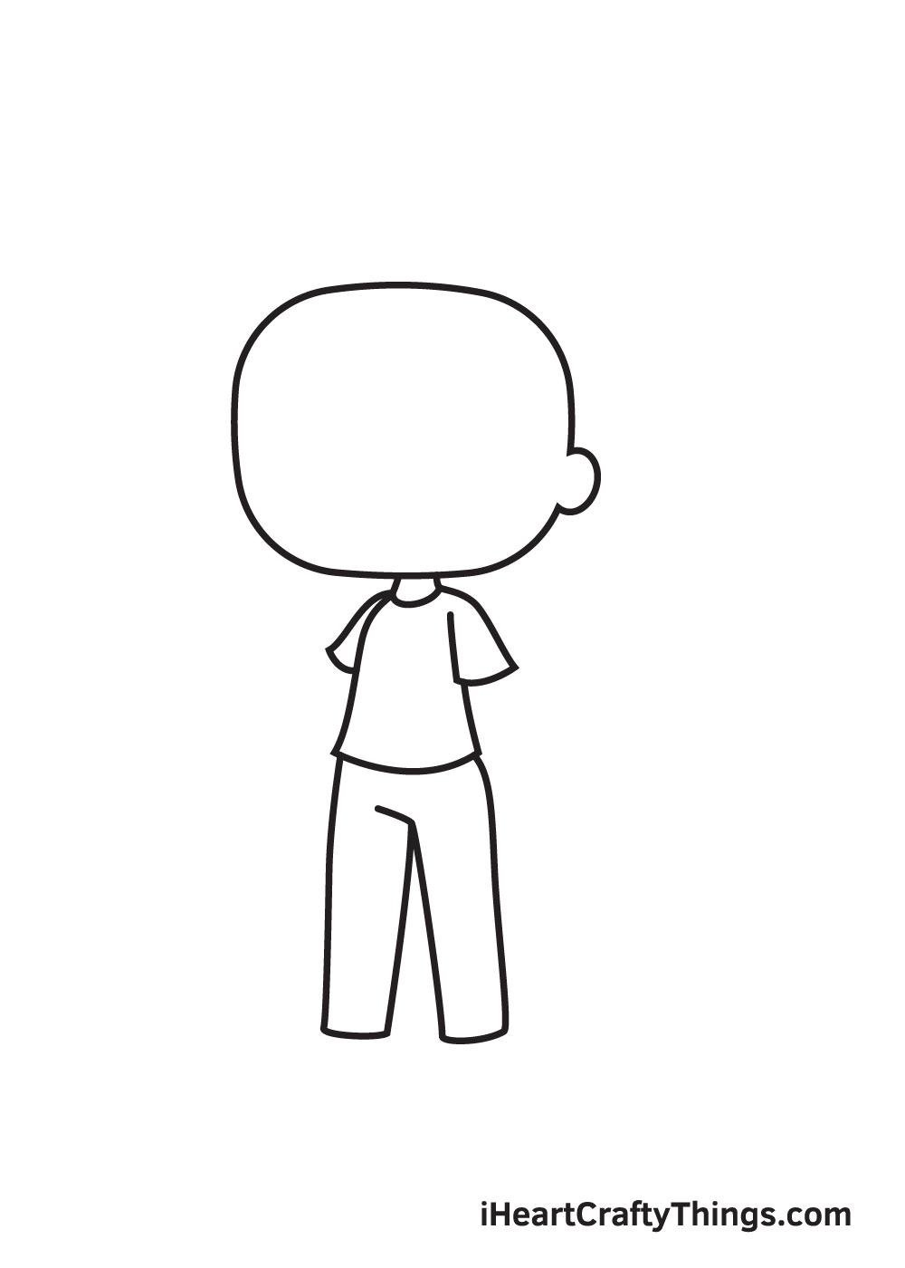 gacha life drawing step 4