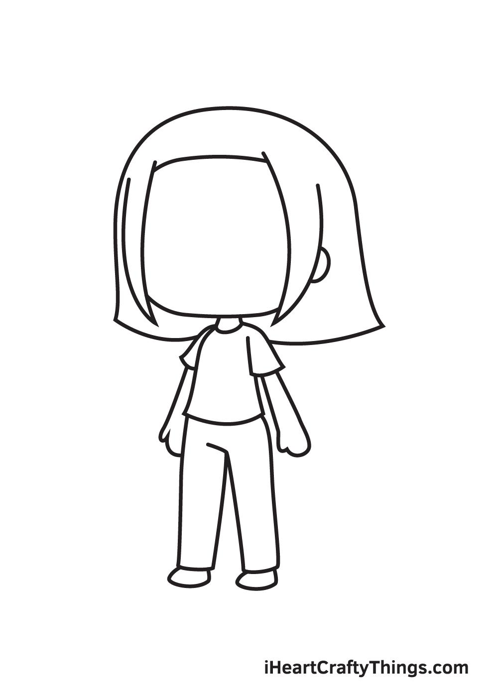 gacha life drawing step 7