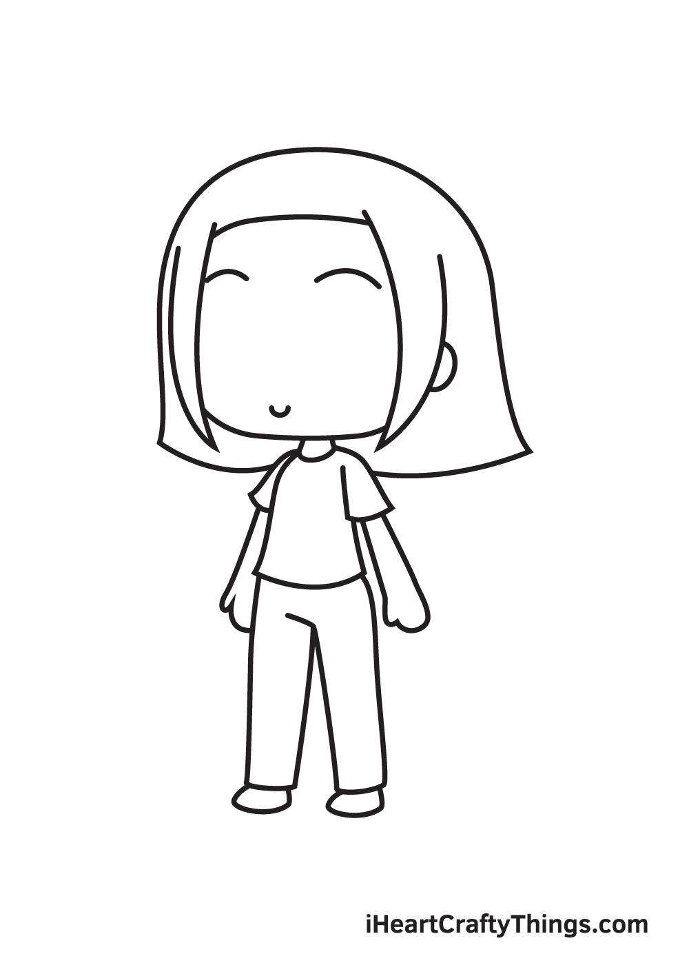 gacha life drawing step 8