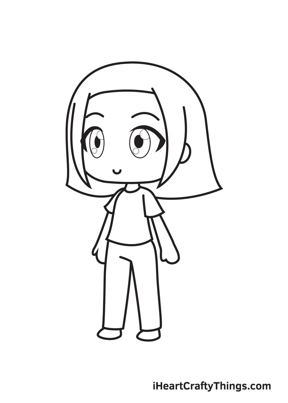 gacha life drawing step 9
