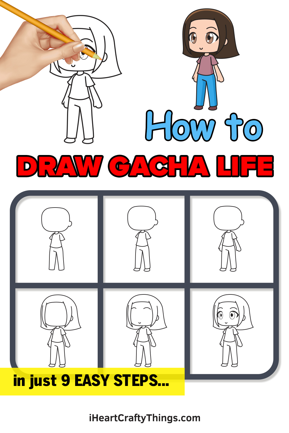 how to draw gacha life in 9 easy steps