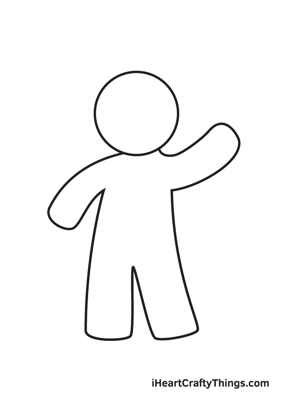 gingerbread man drawing step 3