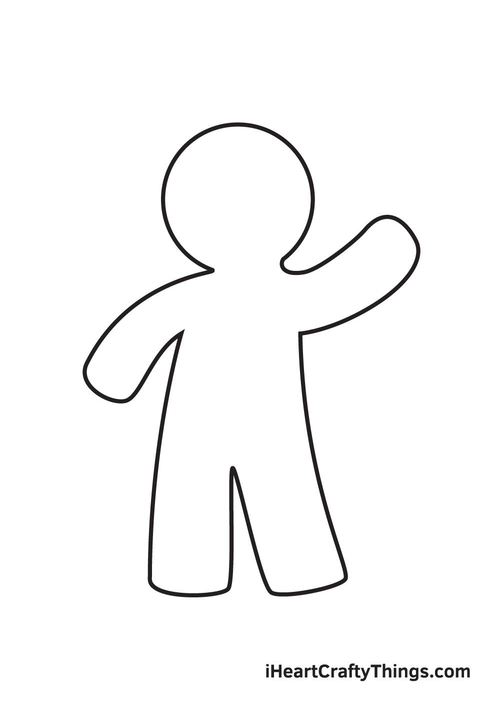 gingerbread man drawing step 4
