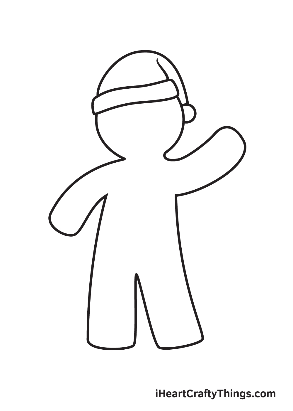 gingerbread man drawing step 5
