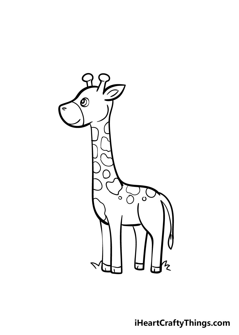 giraffe drawing step 6