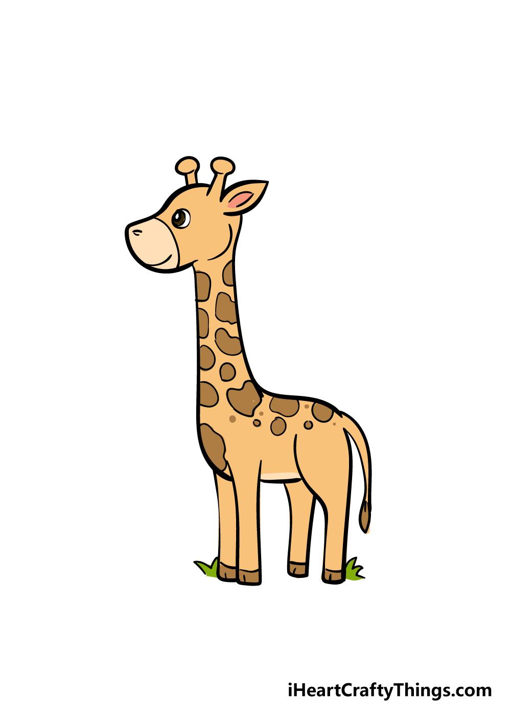 giraffe drawing step 7