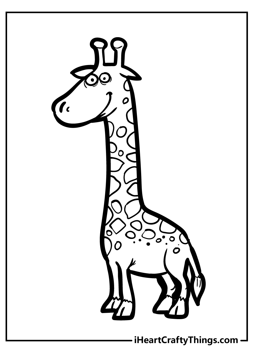 giraffe coloring pages printable free
