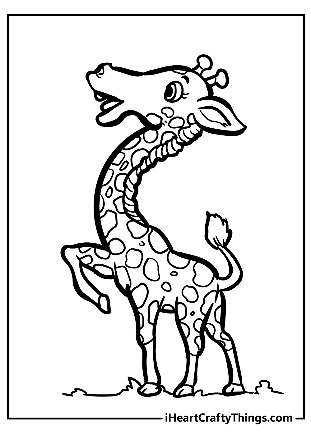 small giraffe coloring pages free printable