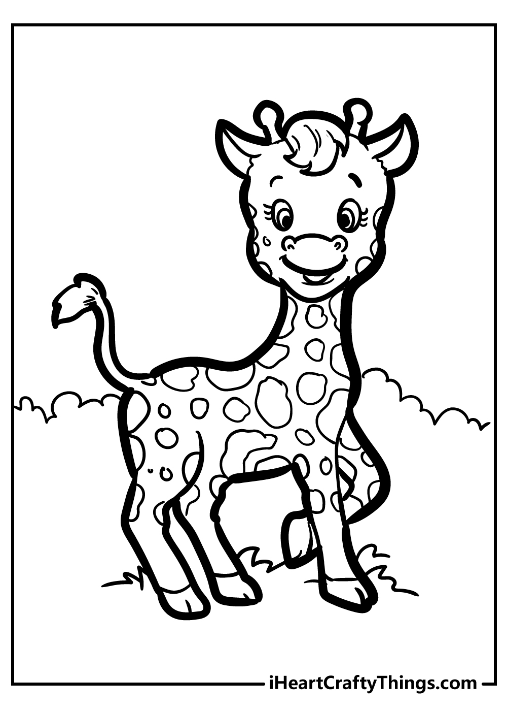 amazing giraffe coloring pages free