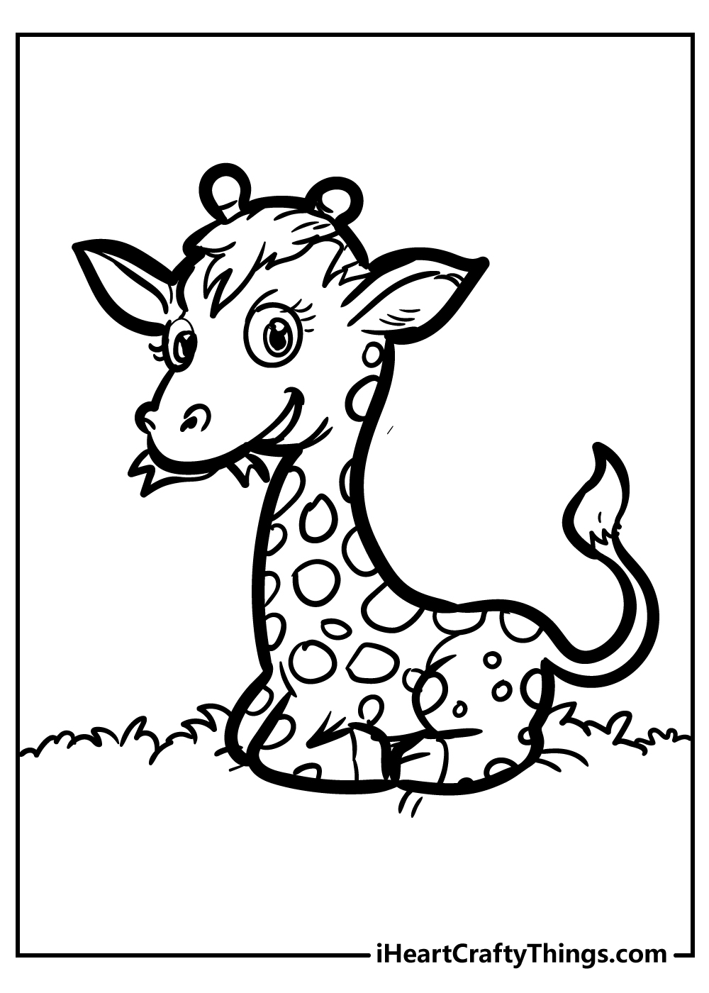 cute baby giraffe coloring pages free download