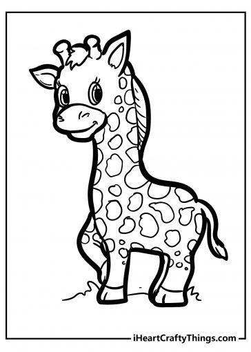 giraffe coloring images free printable