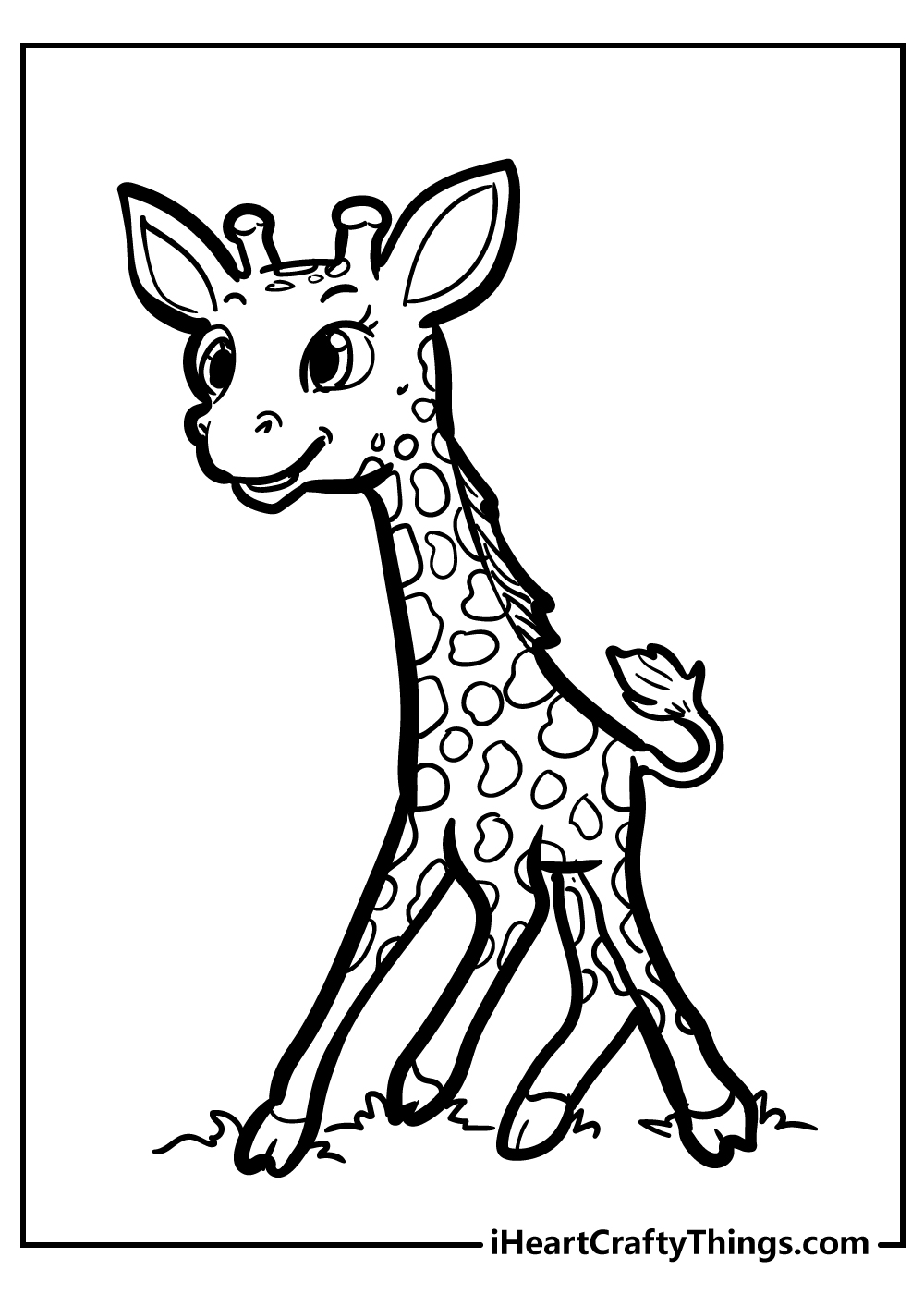 cute giraffe coloring pages for kids free print