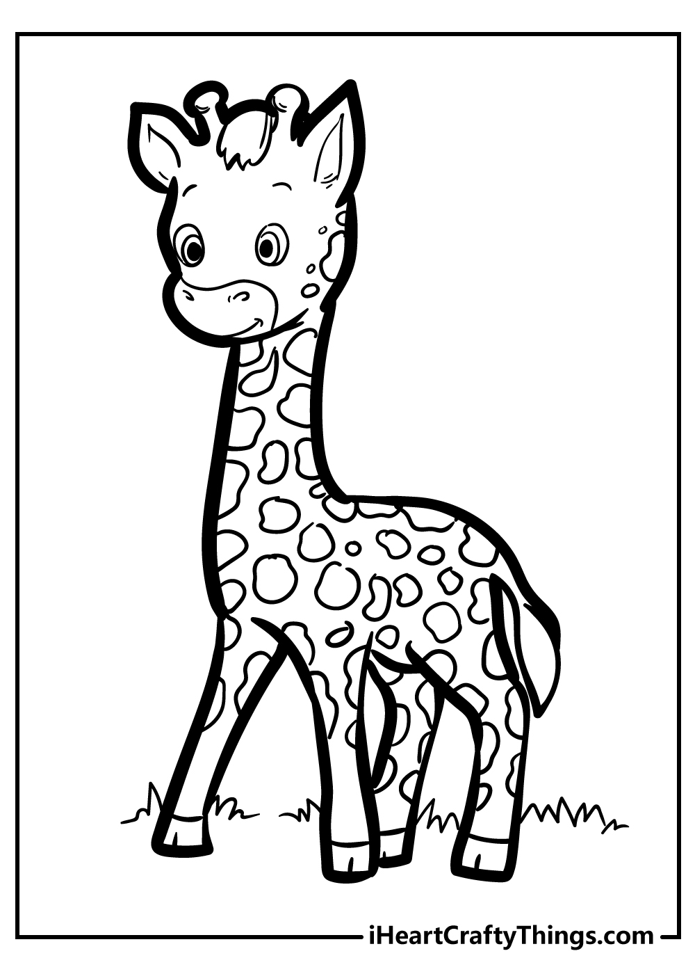 printable giraffe coloring pages for adults