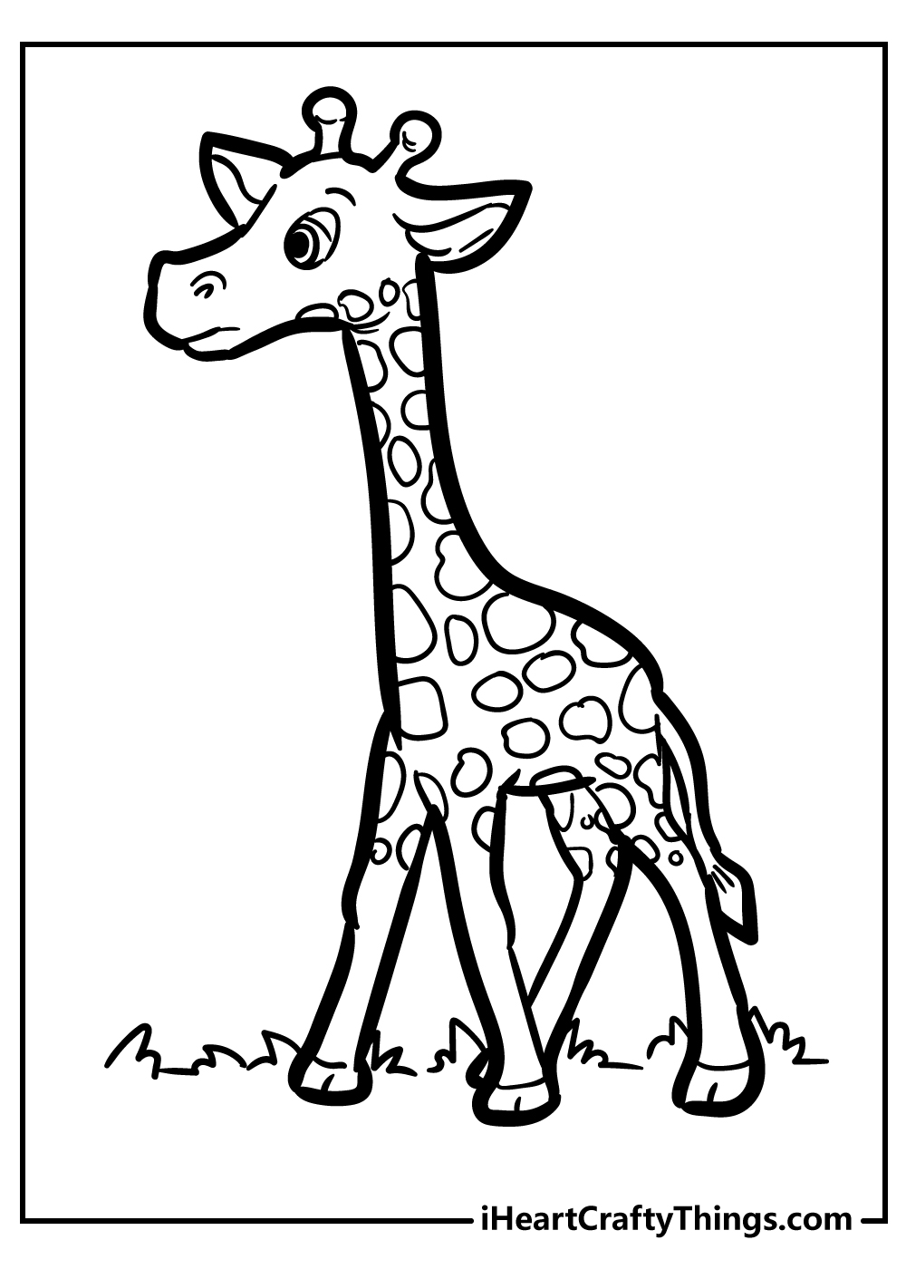 large giraffe coloring pages free download