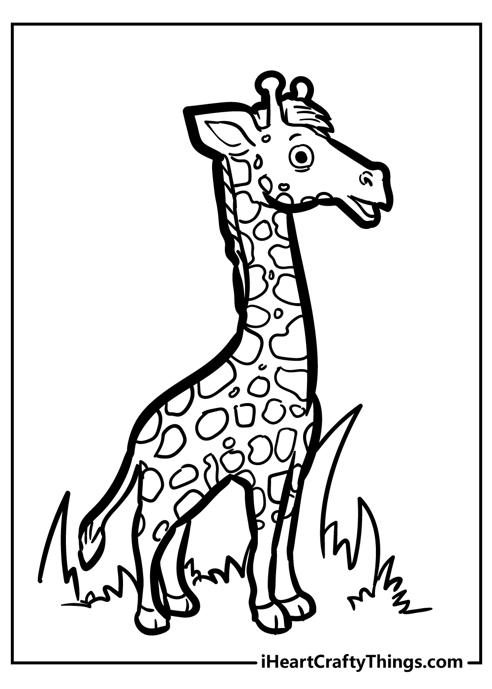 free printable coloring sheet giraffe coloring pages
