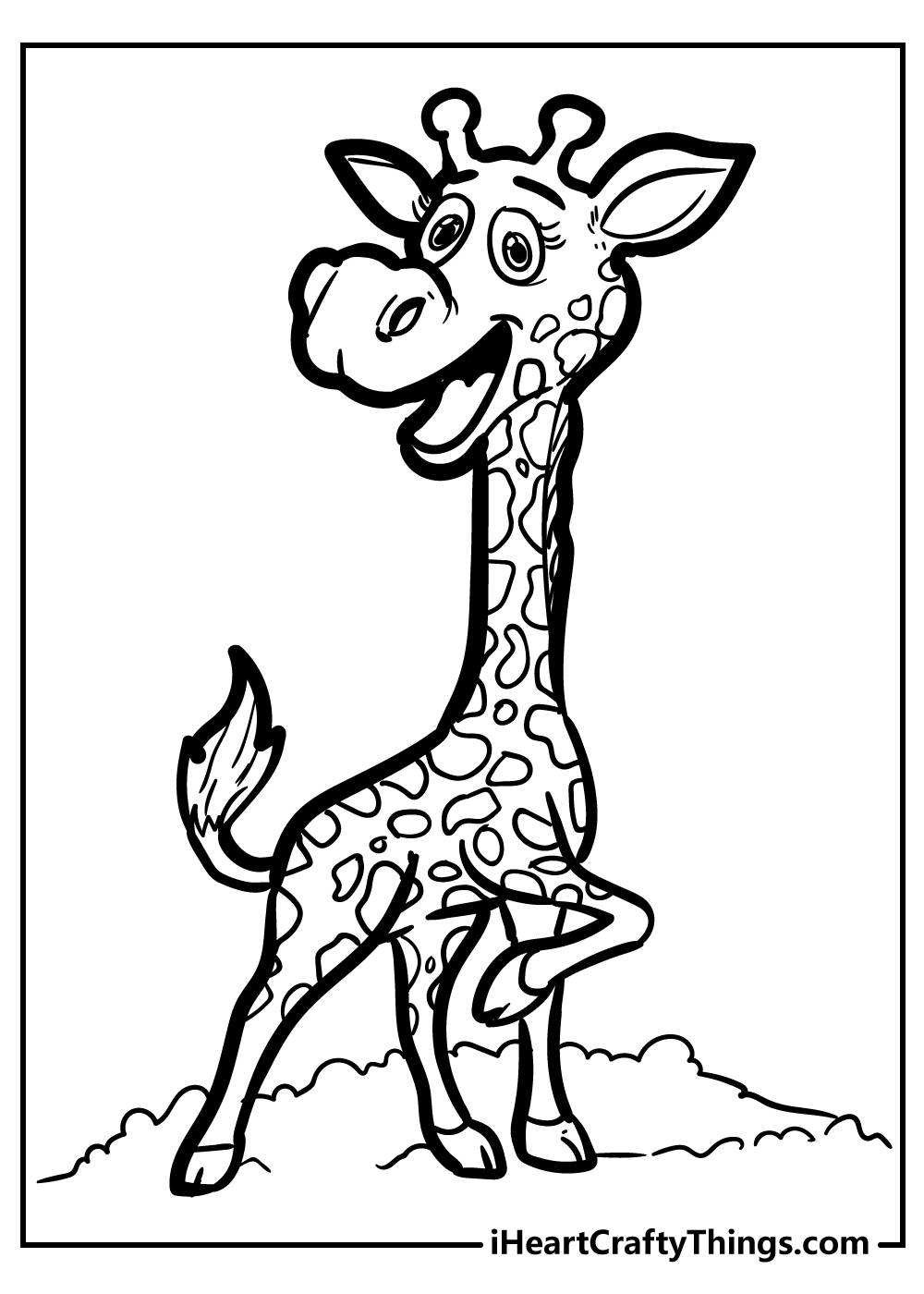 g for giraffe coloring pages for preschool