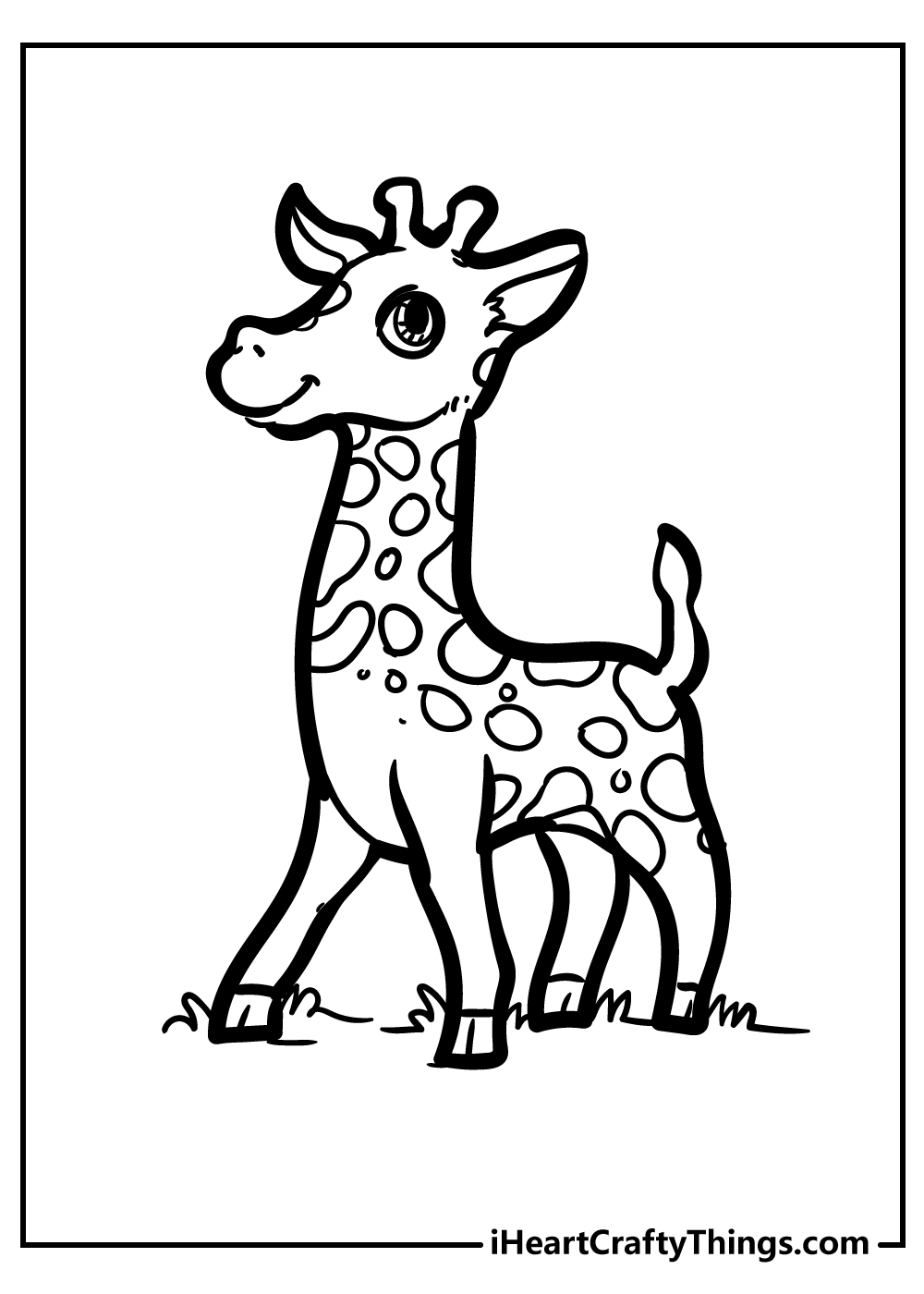 baby giraffe coloring pages for kids free printable
