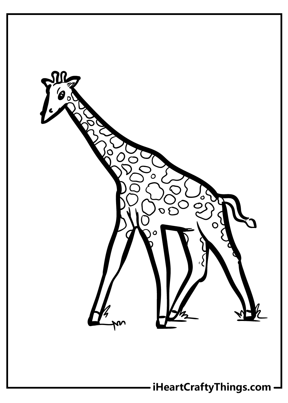 cute giraffe coloring pages for kids free printable