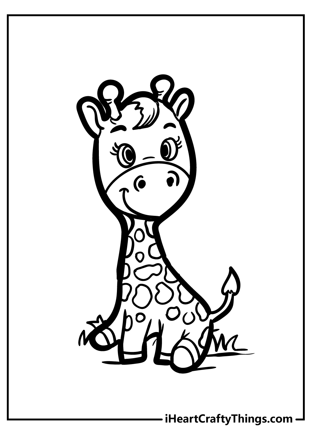 printable giraffe coloring pages free pdf for preschoolers