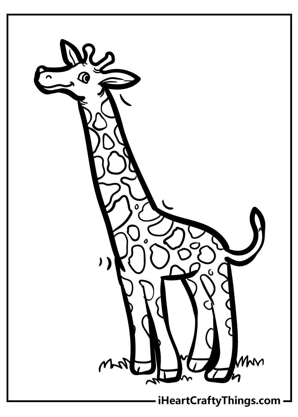 black and white giraffe coloring pages free download