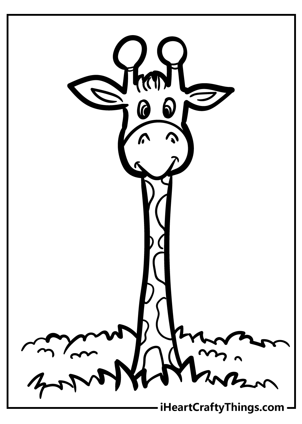 cartoon giraffe coloring pages free download