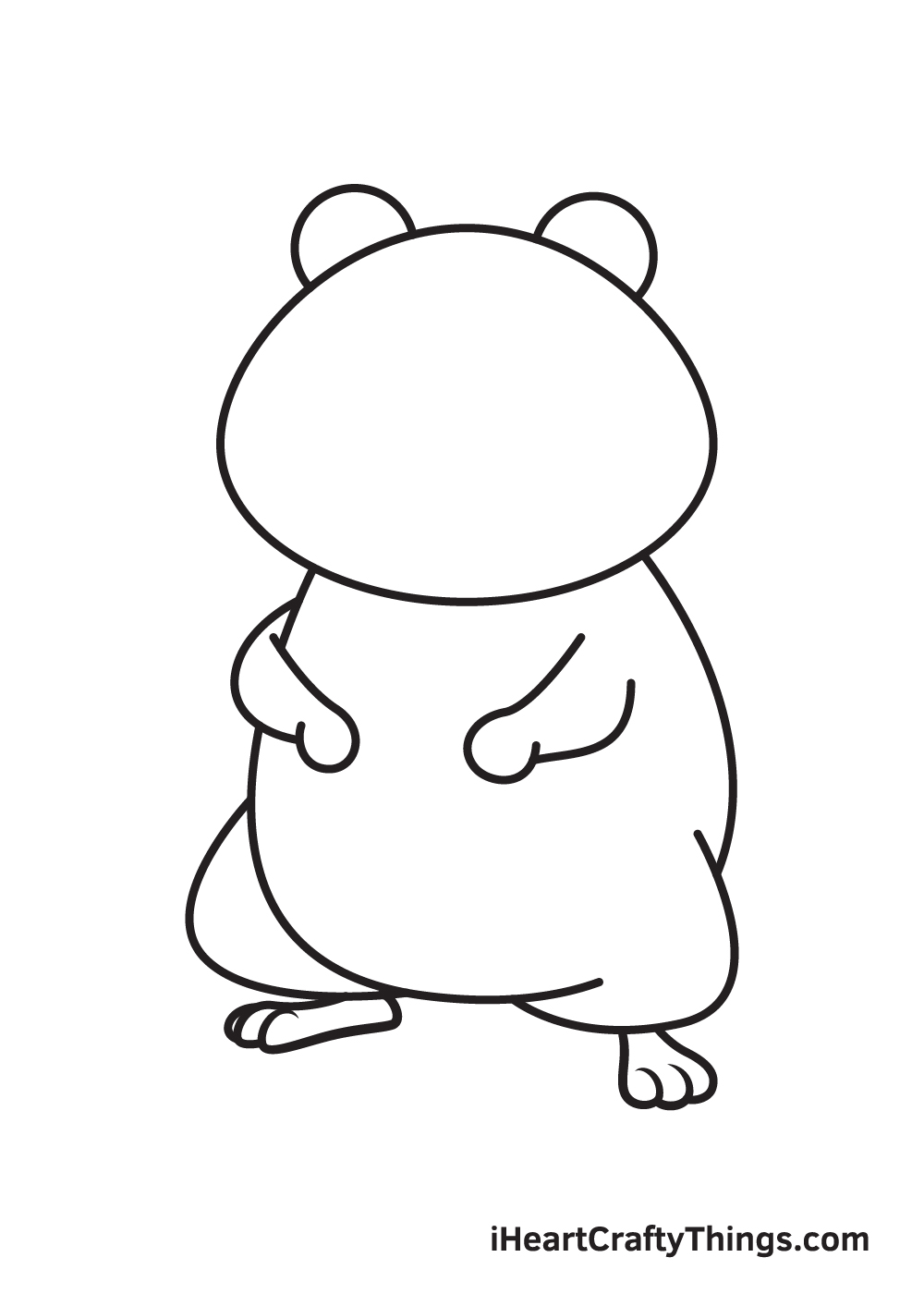 hamster drawing step 7
