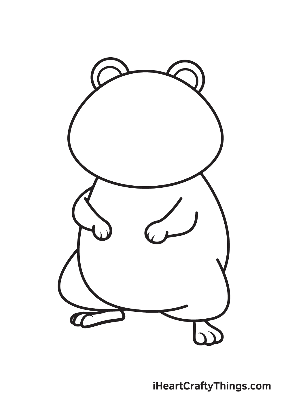 hamster drawing step 8