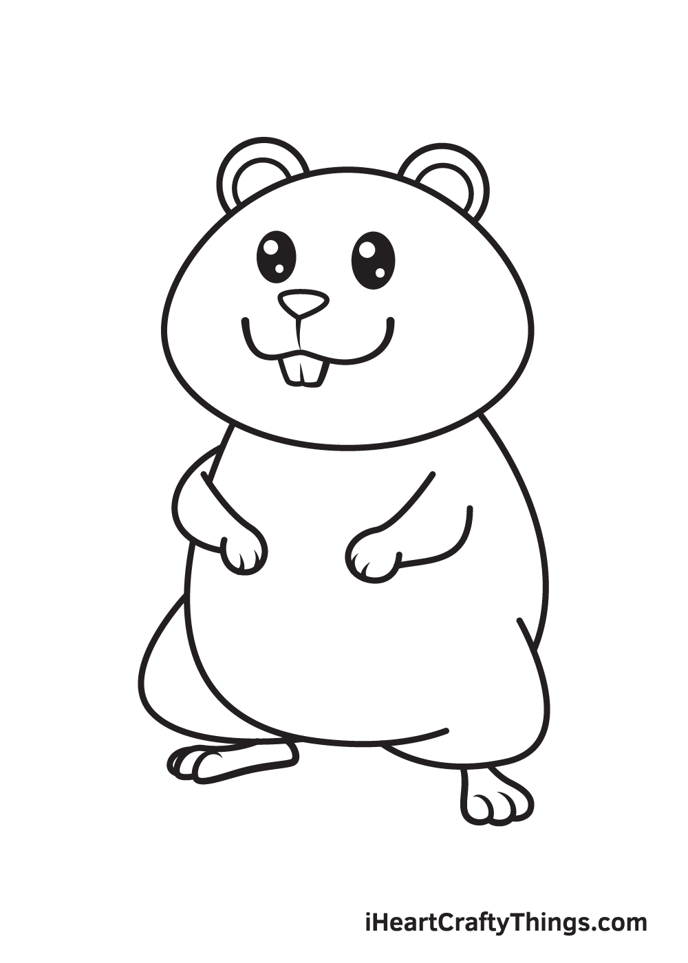 hamster drawing step 9