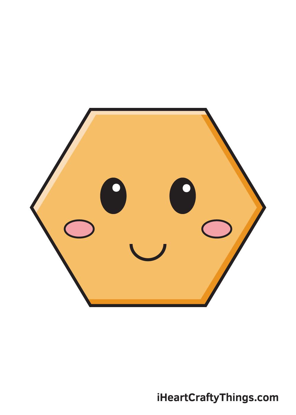 hexagon drawing 9 steps