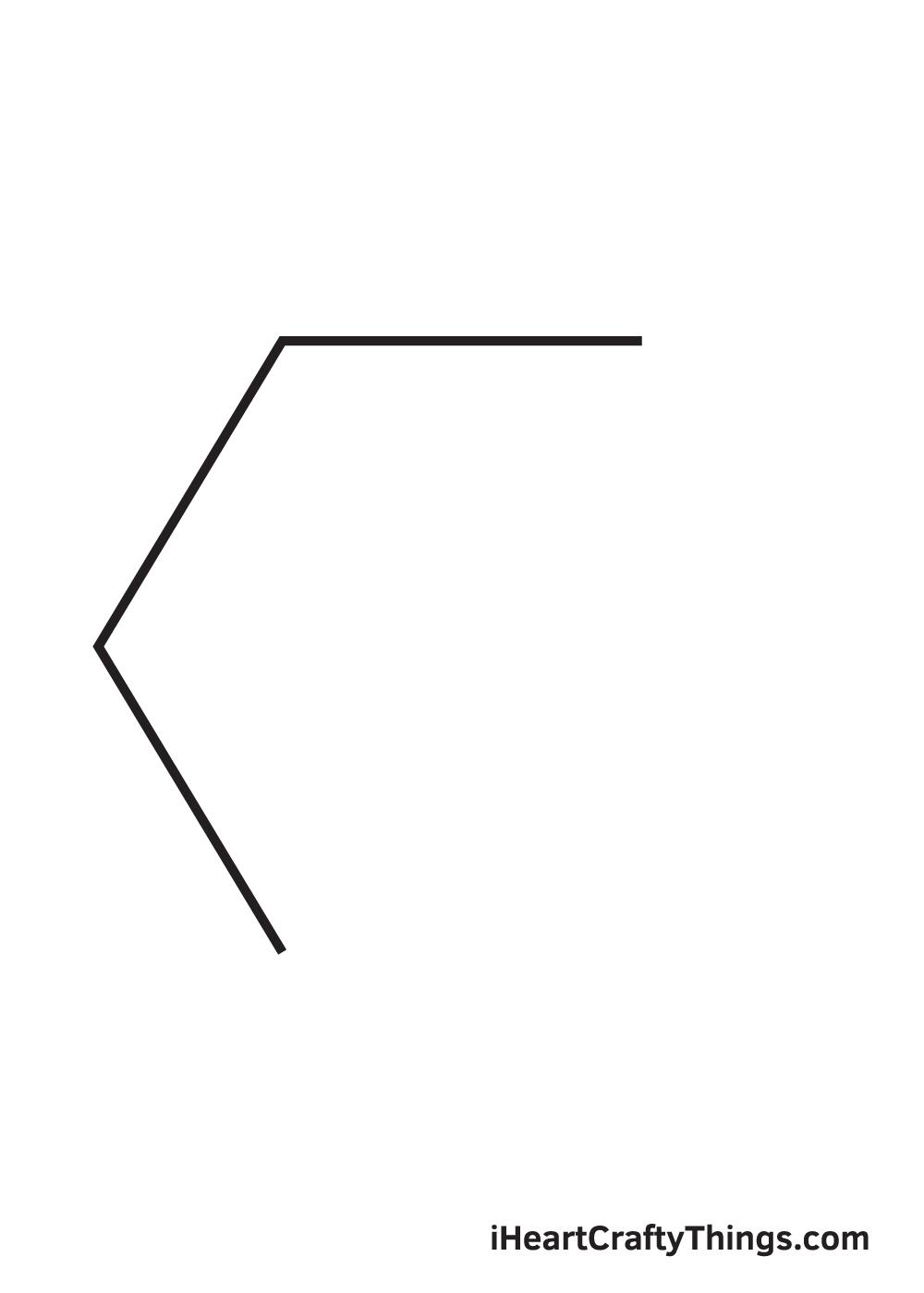 hexagon drawing step 3