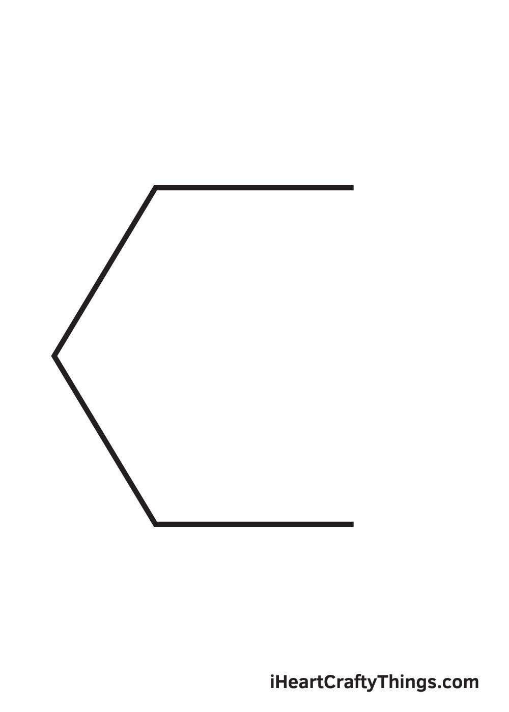 hexagon drawing step 4