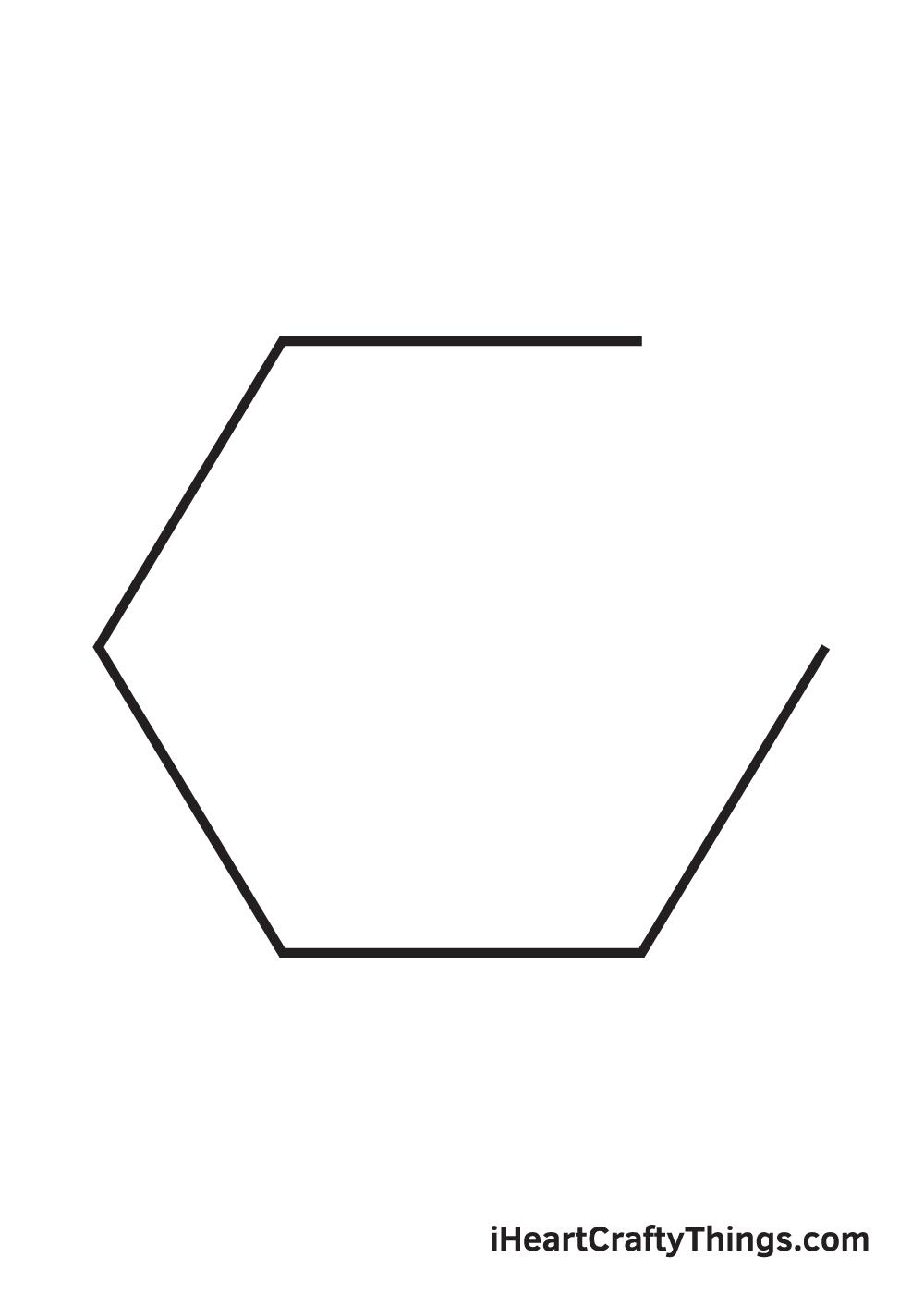 hexagon drawing step 5