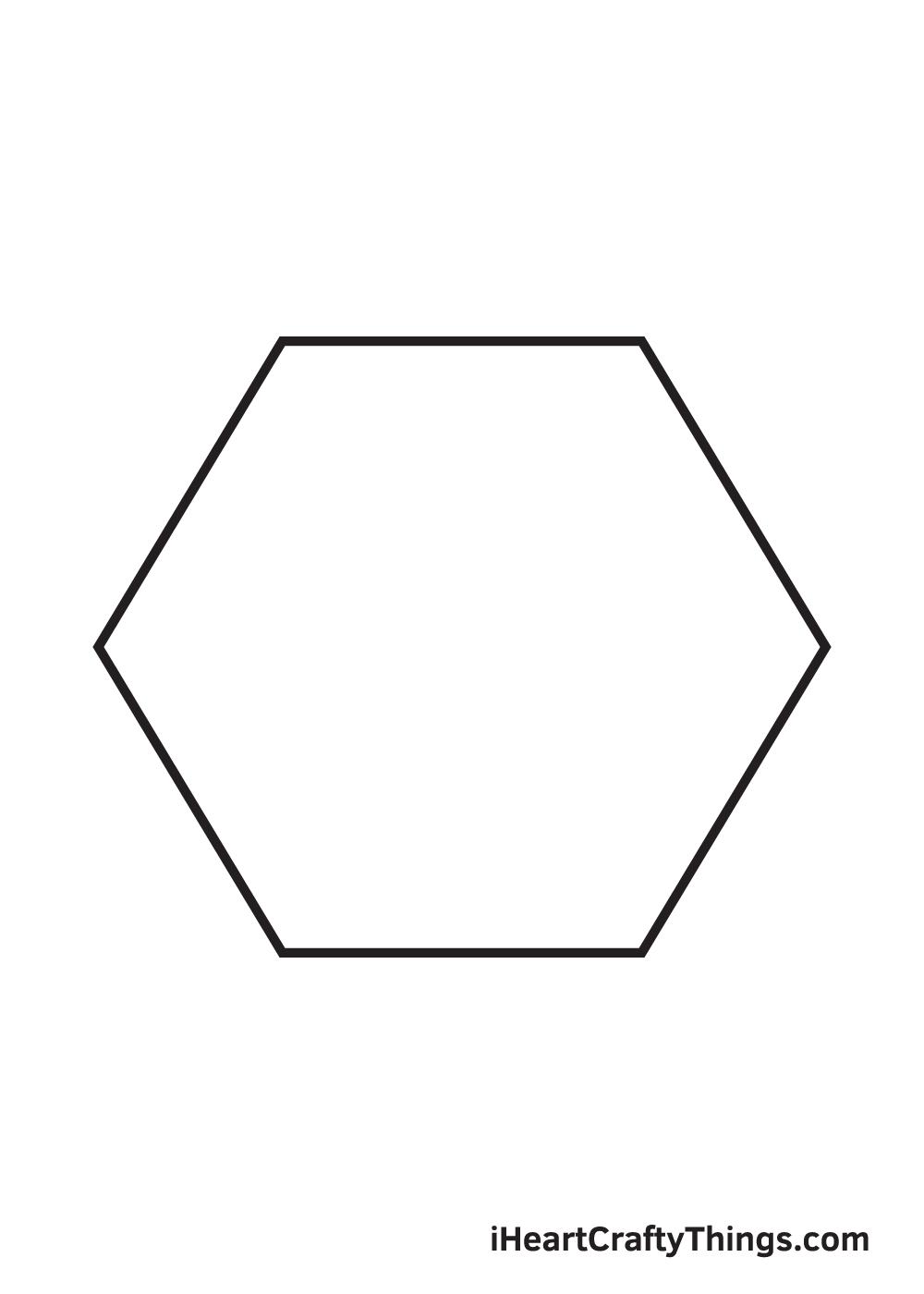 hexagon drawing step 6