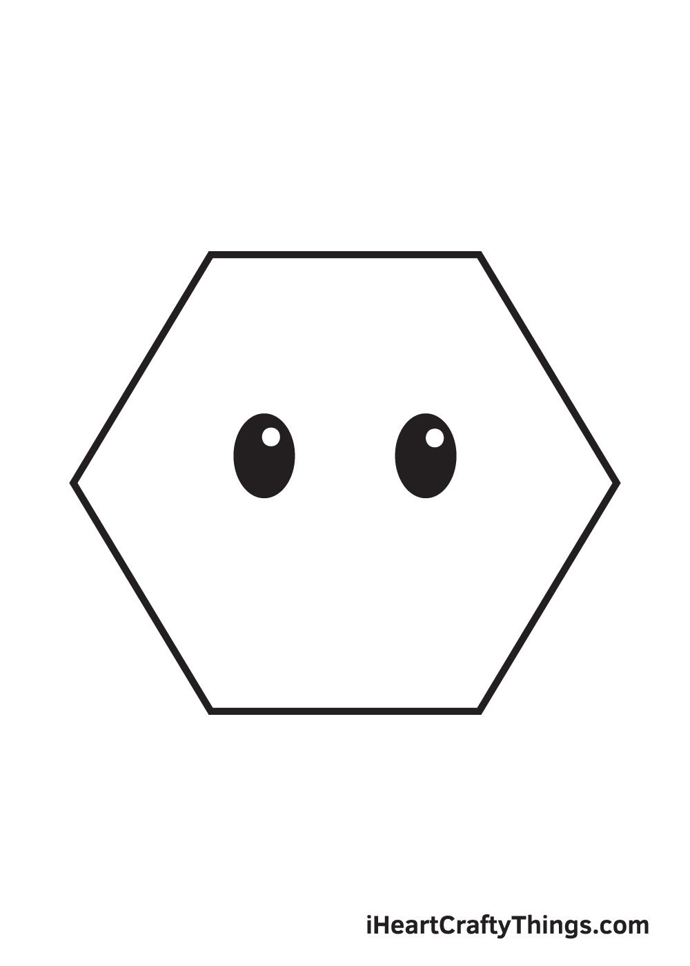 hexagon drawing step 7
