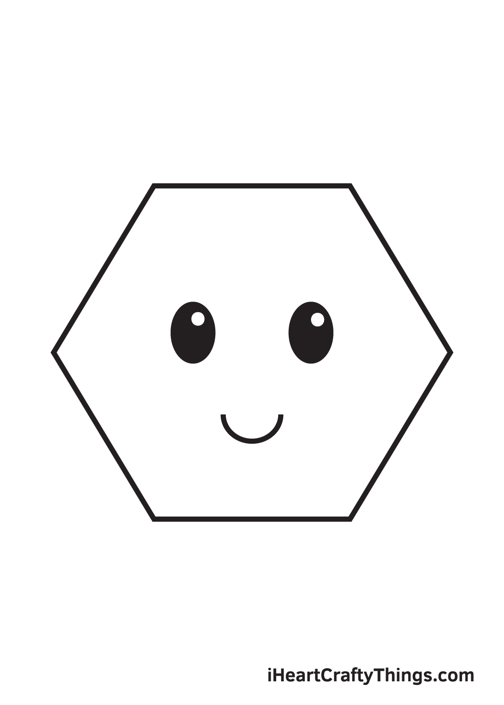 hexagon drawing step 8