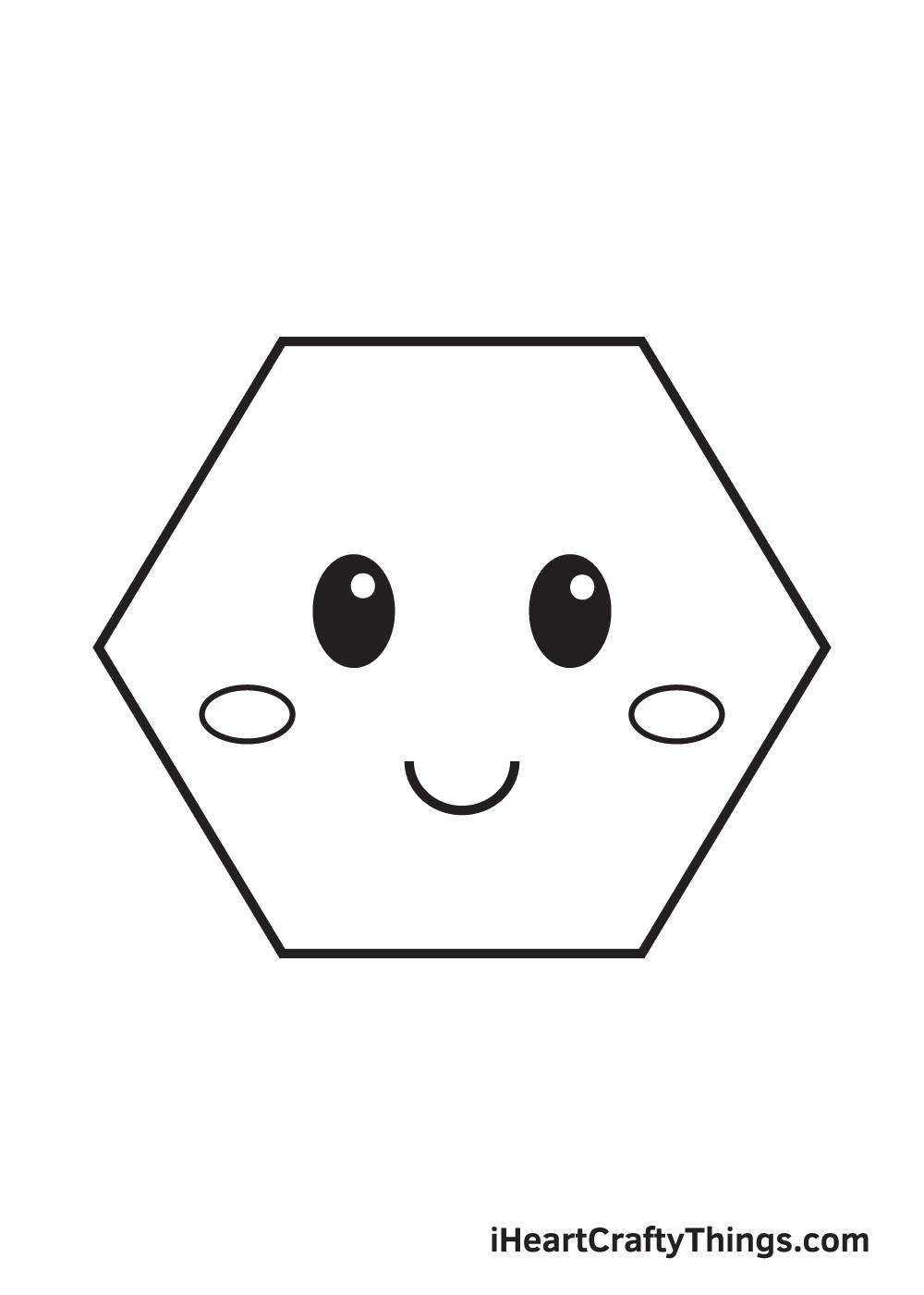 hexagon drawing step 9
