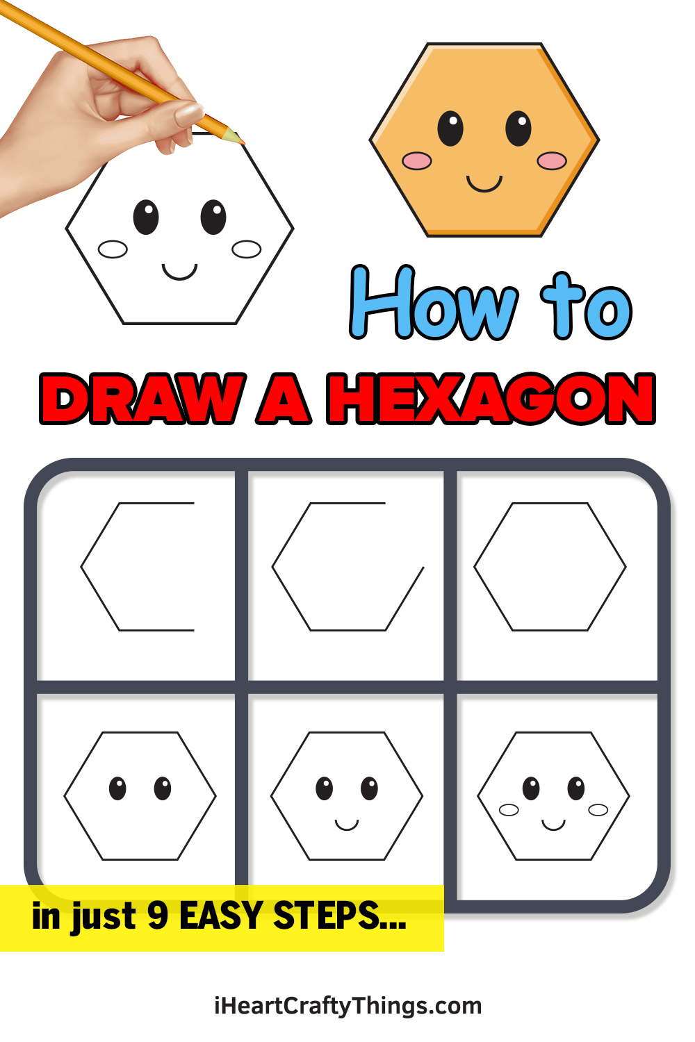 how to draw hexagon in 9 easy steps