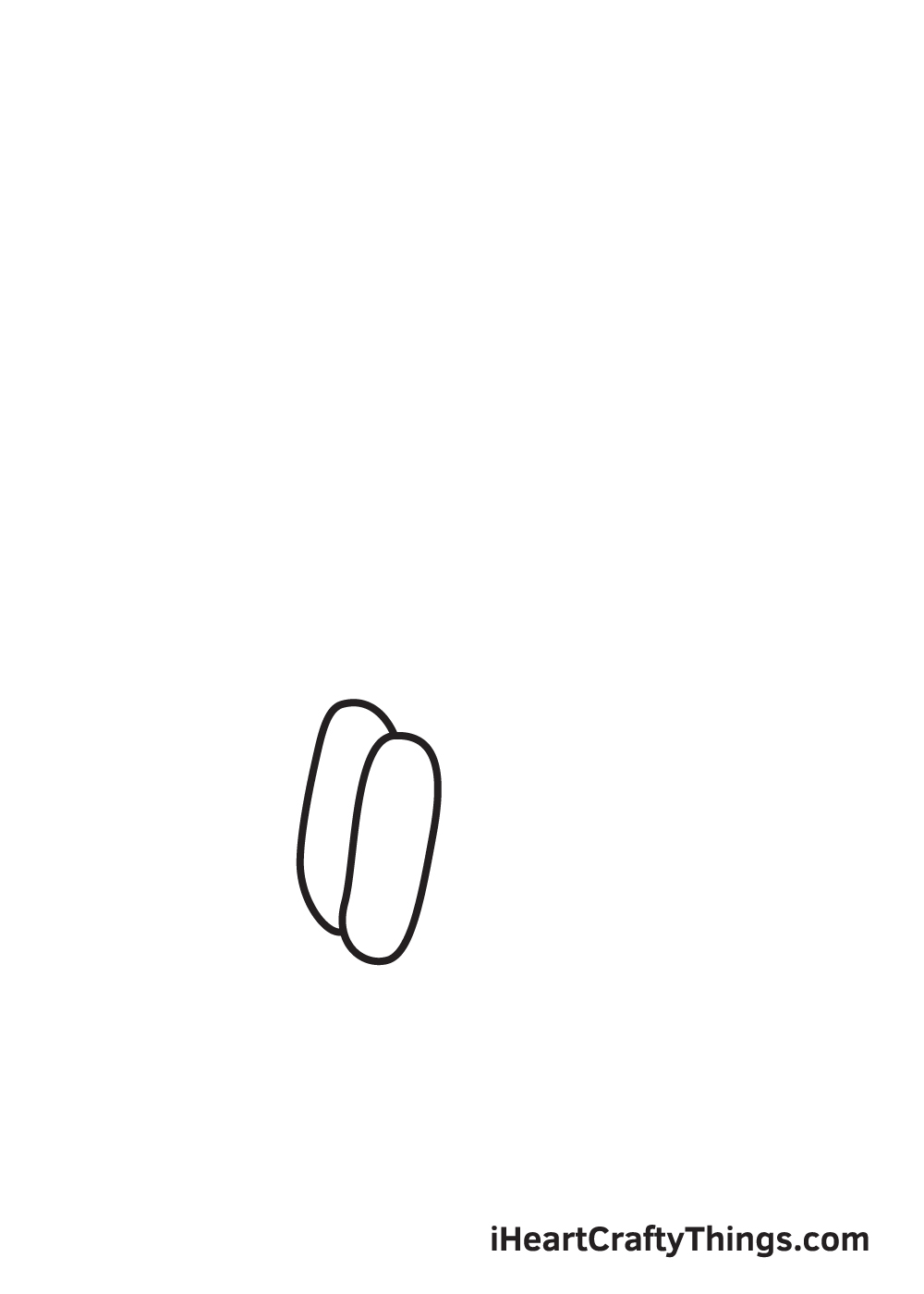 holding hands drawing step 2
