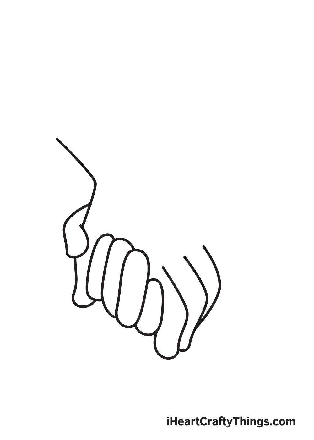 holding hands drawing step 6