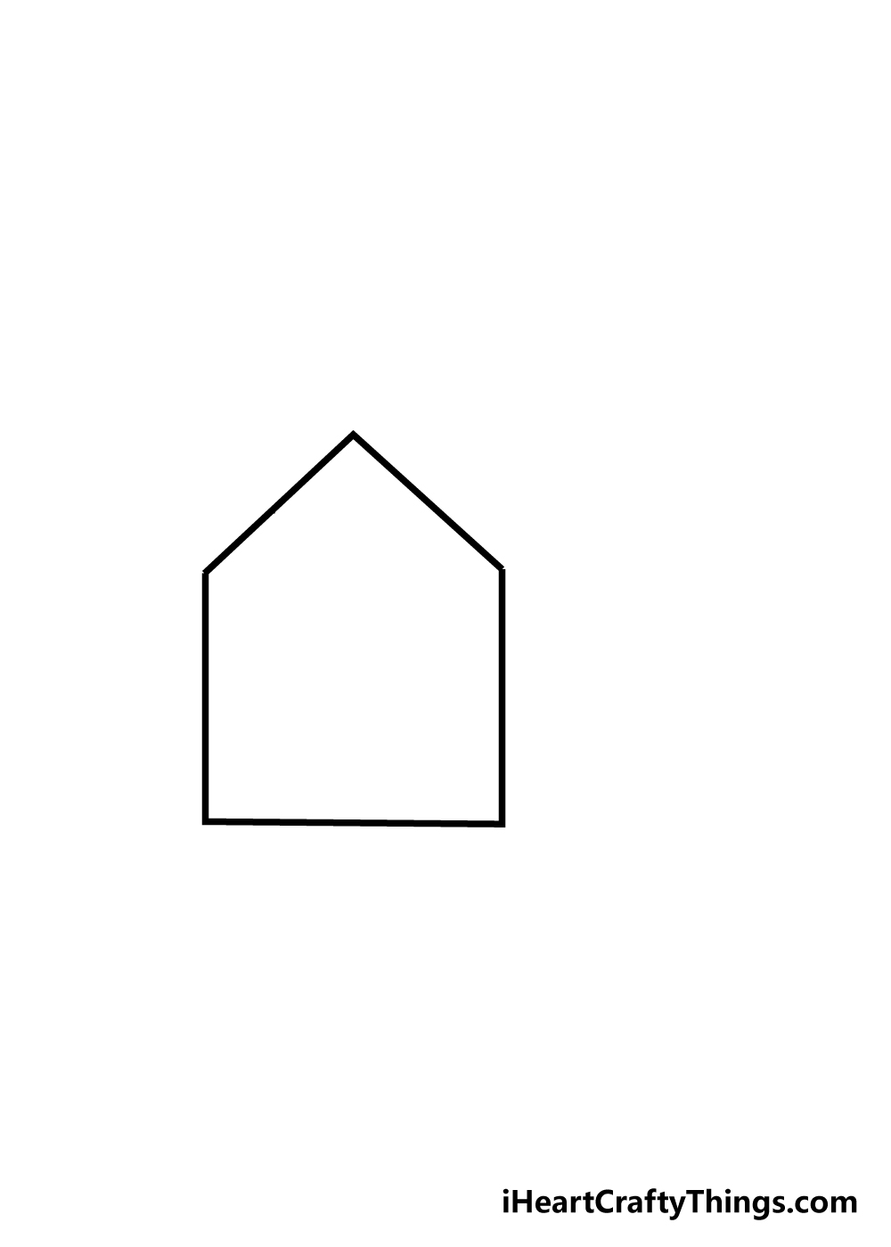 house drawing step 1