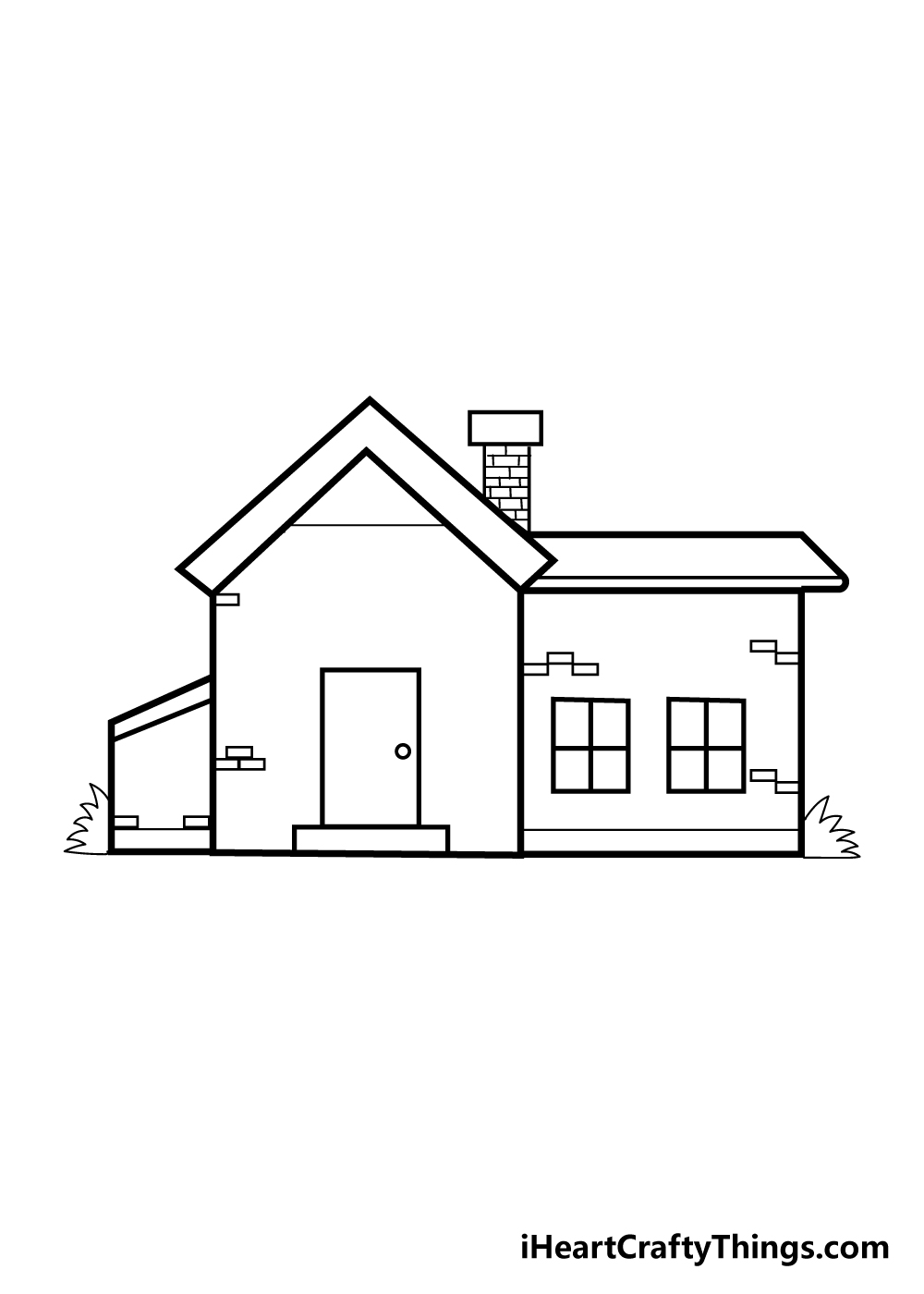 house drawing step 7