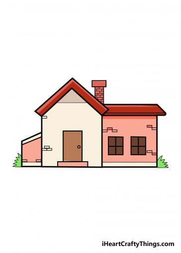 how to draw house image