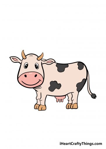 how to draw cow image