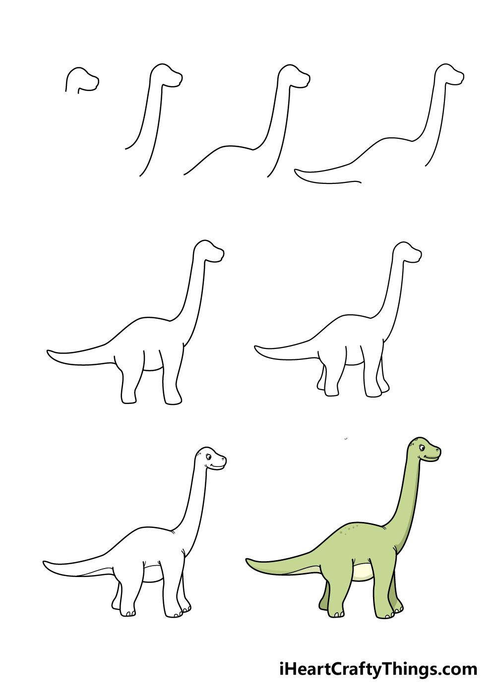 cách vẽ khủng long trong 8 bước
